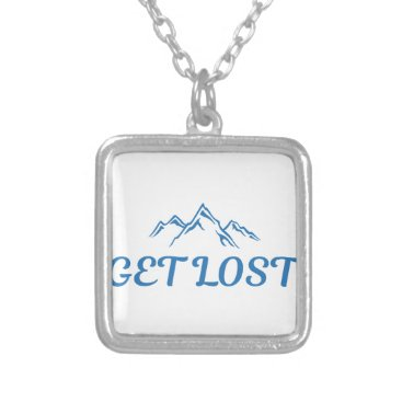 Beach Themed Get Lost Silver Plated Necklace