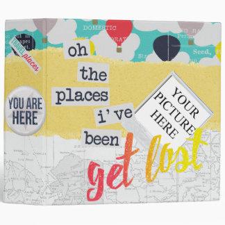 """""""Get Lost"""" Travel Journal Binder"""
