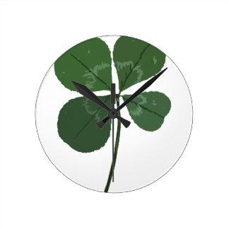 Get Lucky Round Clock