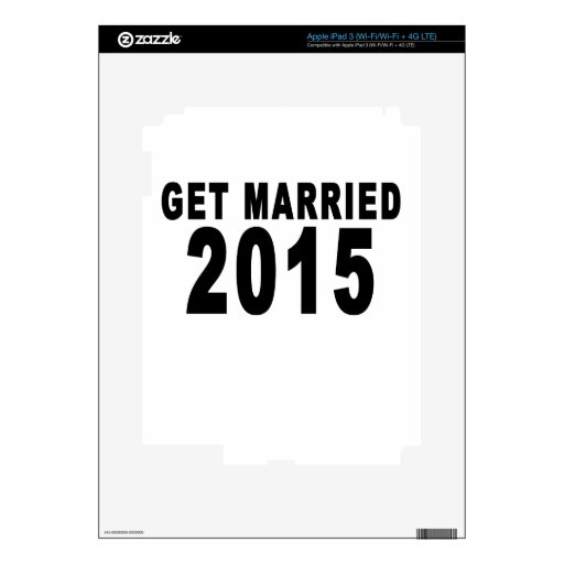 GET MARRIED 2015.png Decals For iPad 3