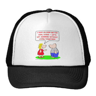 get married without living together trucker hat