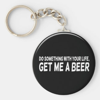 get me a beer basic round button keychain