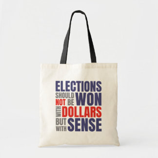 Get Money Out of Politics Tote Bag Black Handle