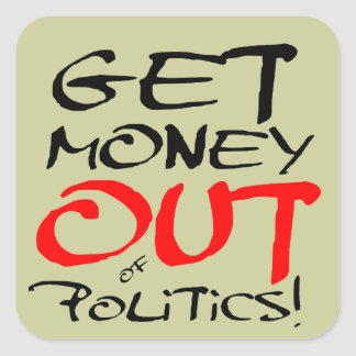 Get Money Out Square Sticker