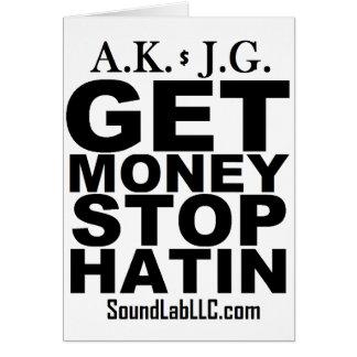 Get Money Stop Hatin' Card