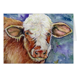 Get Mooved by this cow Greeting Card