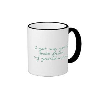 Get My Looks from Grandmama Ringer Mug