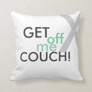 Get off me couch throw pillow