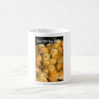 Get Off My Back! Baby Chicks Chicken Coffee Mug