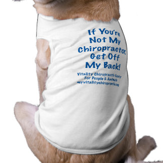 Get Off My Back Blue Text Doggie T-shirt