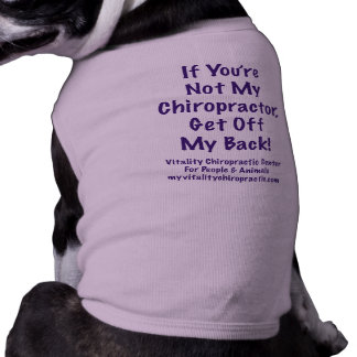 Get Off My Back Purple Text Pet T Shirt