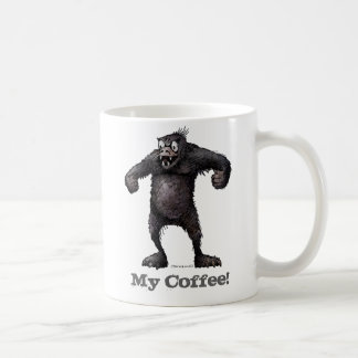 Get Off My Coffee! Funny Monkey Father's Day Coffee Mug