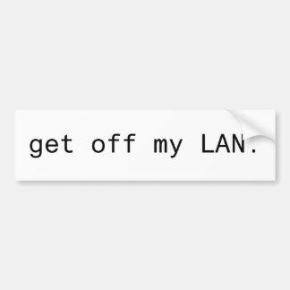 Get Off My LAN Bumper Sticker