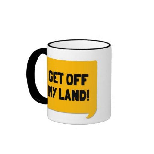 Get Off My Land! A Cornish Soundboard Mug