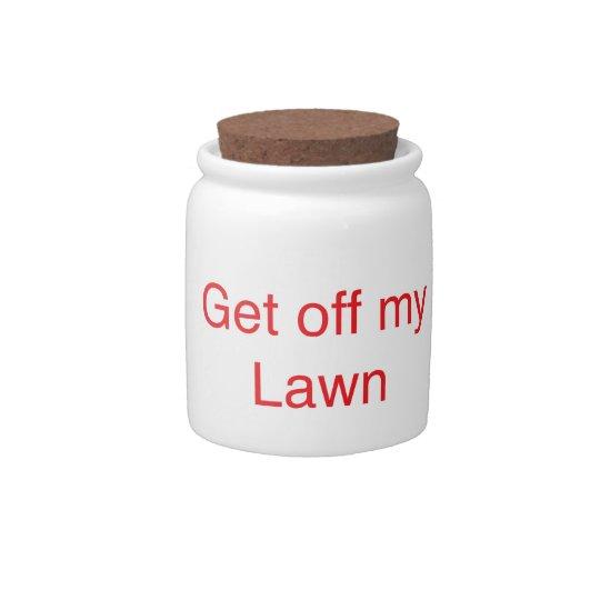 Get off my Lawn Candy Jar