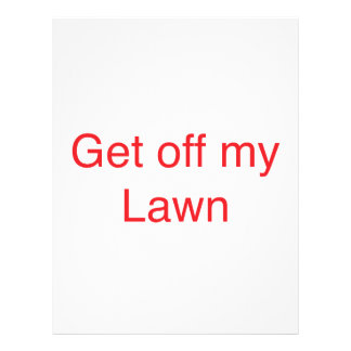 Get off my Lawn Letterhead
