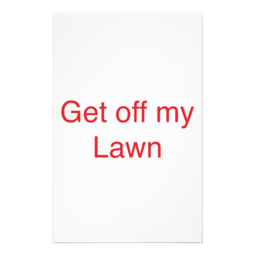 Get off my Lawn Stationery