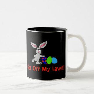 Get Off My Lawn Two-Tone Coffee Mug