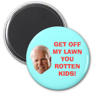 GET OFF MY LAWN YOU ROTTEN KIDS! 2 INCH ROUND MAGNET