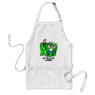 get off of my lawn adult apron