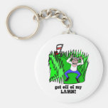 get off of my lawn key chains