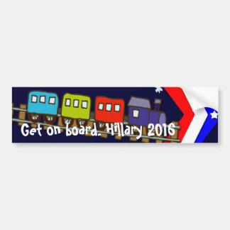 Get on Board Hillary 2016 Car Bumper Sticker