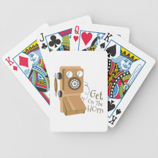 Get On The Horn Bicycle Playing Cards