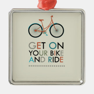 Get On Your Bike and Ride Christmas Ornaments