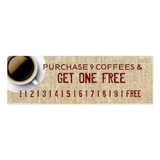 get one free COFFEE Business Cards