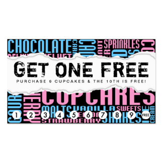 get one free CUPCAKE Double-Sided Standard Business Cards (Pack Of 100)