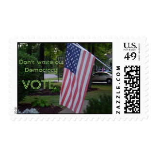 Get out and VOTE! postage stamp
