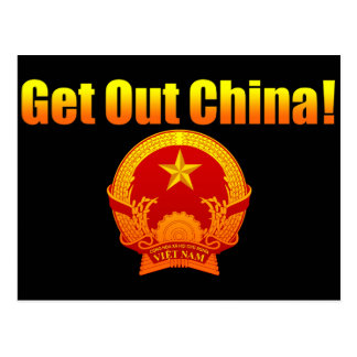 Get Out Chine! Postcard
