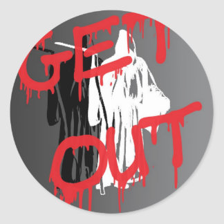 GET OUT copy Classic Round Sticker