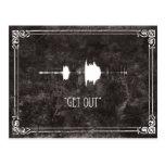 Get Out. EVP Postcard Halloween Invite
