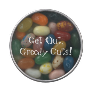 Get Out, Greedy Guts! Jelly Belly Tin