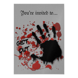 """""""Get Out"""" Halloween Invitations"""