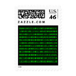Get out more - Binary Code Postage Stamps