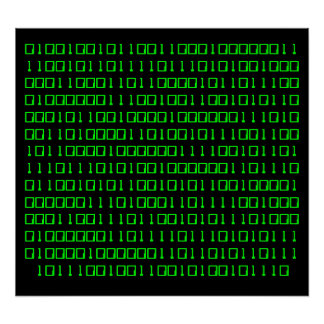 Get out more - Binary Code poster