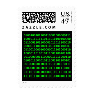 Get out more - Binary Code Stamp