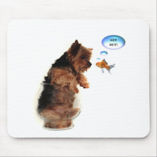 Get out! mouse pad