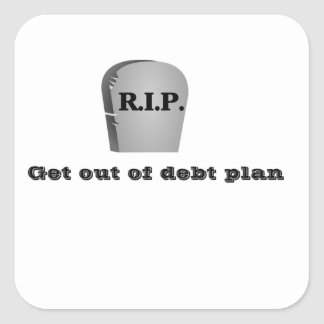 Get out of Debt Plan Stickers