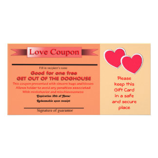 Get out of Doghouse Love Coupon Picture Card