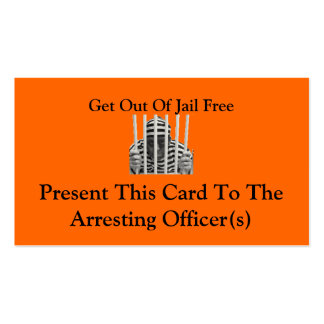 Get Out Of Jail Free Cards Double-Sided Standard Business Cards (Pack Of 100)