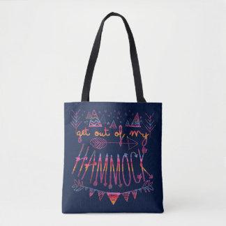 Get Out Of My Hammock (V-Llama) Tote Bag