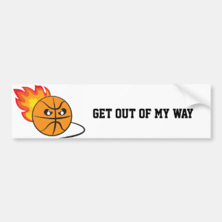 Get out of my way baseball bumper sticker