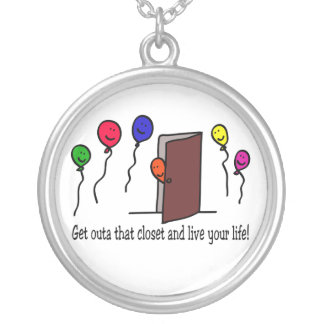 Get out of the Closet! Round Pendant Necklace
