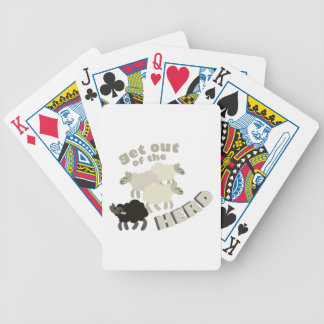 Get Out Of The Herd Bicycle Playing Cards