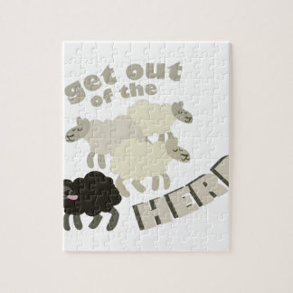 Get Out Of The Herd Jigsaw Puzzle