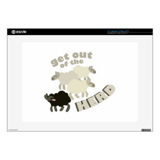 Get Out Of The Herd Laptop Decal