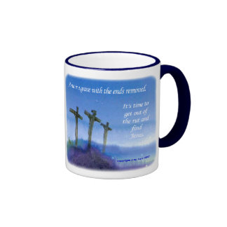 Get out of the rut ringer coffee mug